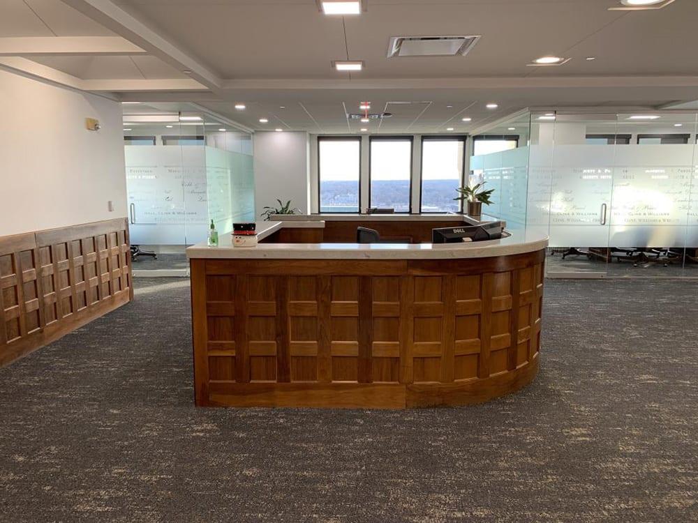 Cline Williams Reception Desk